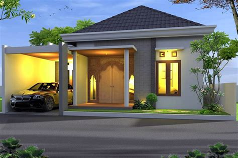 desain depan rumah bali desain rumah minimalis terbaru 1 lantai tak depan