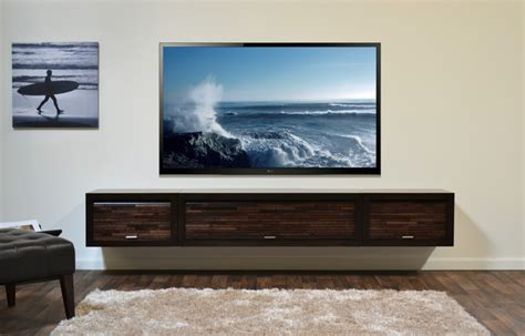 Upholstery San Diego Floating Tv Console Eco Geo Espresso