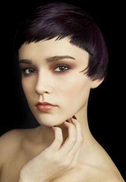 micro bangs short hair love this alternative crop beautiful texture and length
