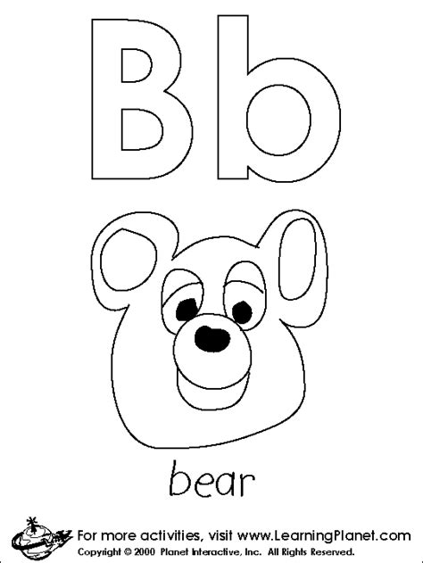 coloring pages for kids coloring page letter quot b quot