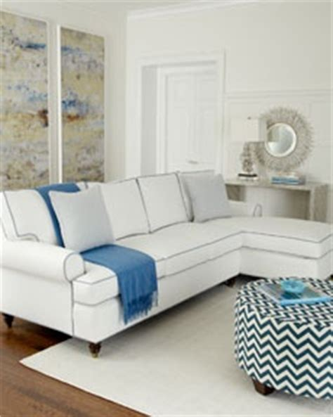 Blue Sofa White Piping by 17 Best Images About Sectional Sofas On White