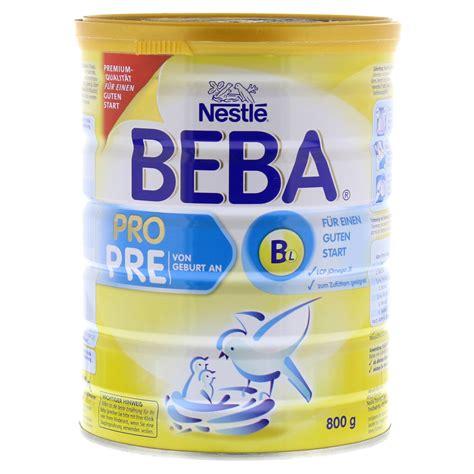 beba ha 1 ab wann nestle beba pro pre pulver 800 gramm nestle nutrition