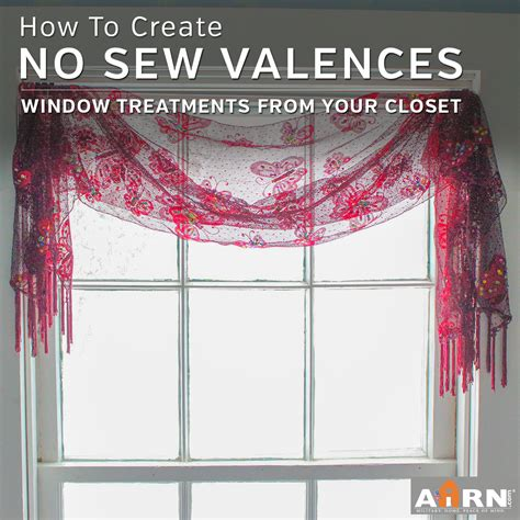 how to hang window treatments no sew window treatments creative valances from your own