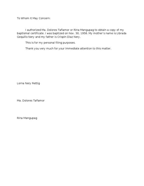 Authorization Letter For Certification authorization letter
