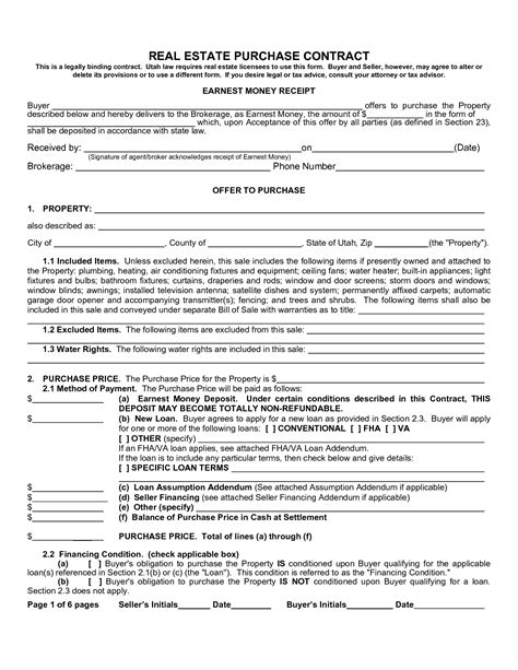 Real Estate Purchase Agreement Form Sle Image Gallery Imggrid Free Purchase Agreement Template For Selling A House