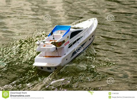 model boats electric electric radiocontrolled model boat stock photo image