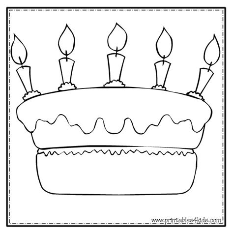 birthday templates for pages happy birthday cake coloring page printables for kids