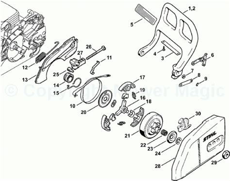 stihl backpack blower parts diagram wiring diagram and