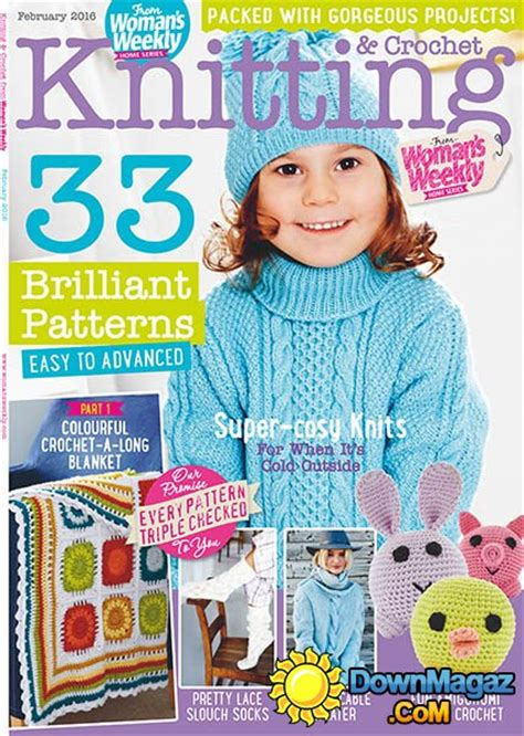 weekly knitting patterns knitting crochet from s weekly uk february 2016