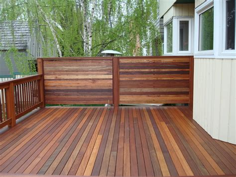 decking privacy screen and railing contemporary