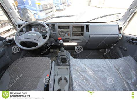 the interior of the truck cabin isuzu inside russia