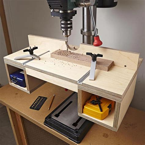 Do It All Drill Press Table Woodworking Plan From Wood