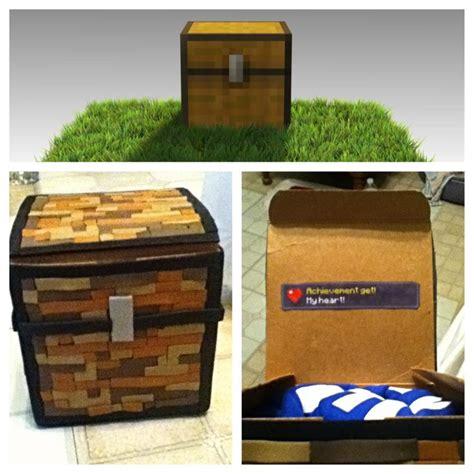 Gamer Boyfriend Box s day minecraft chest gift box