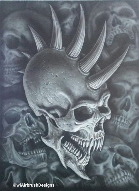 demon skull  kiwi terry airbrush designs wallpaper