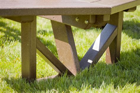 polywood picnic table polywood recycled plastic octagon picnic table 53 quot