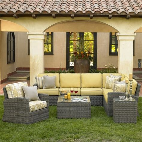 casual living patio furniture bainbridge seating sectional
