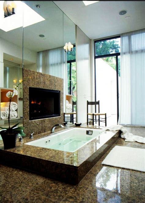es bathrooms 15 luxury bathrooms with fireplaces