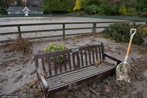 park bench covers storm desmond leaves thousands to face months away from their flooded homes daily