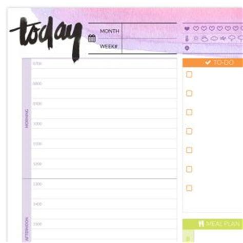 Daily Planner Pages Printable 2017