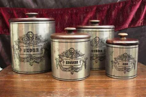 vintage metal kitchen canister sets vintage kitchen canister sets explanation all home