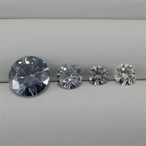 moissanite colors moissanite colors moissanite blue color 2 91 ct 9 85 mm