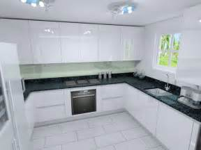 U Shaped Kitchen Layouts With Island polar white lacquer kitchens from lwk kitchens