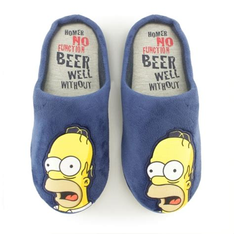 the simpsons slippers mens homer novelty comfy mule slippers buy