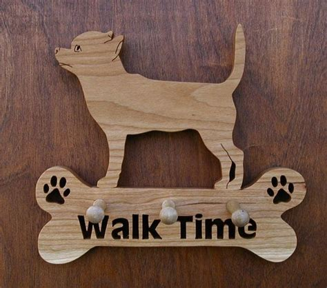 key holder pattern scroll saw chihuahua quot walk time quot leash holder 3 peg with free quot fridge