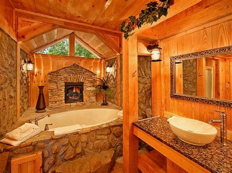 Log Cabin Bathroom Ideas | awesome log home bathroom favorite places spaces