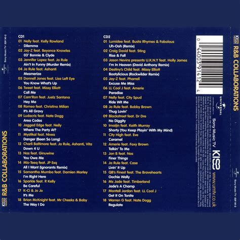 top 50 rap and r b collaborations 50 46 raphip hop r b collaborations 2003 cd2 mp3 buy full tracklist