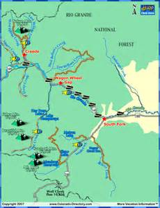 grande fishing map colorado vacation directory