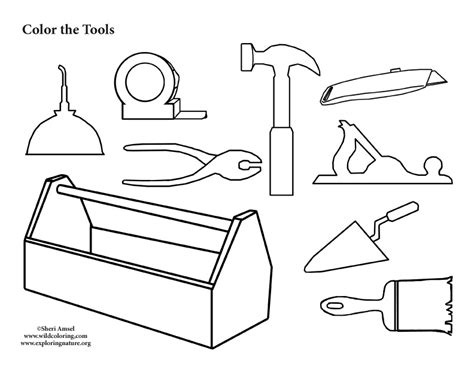 tool collection coloring page