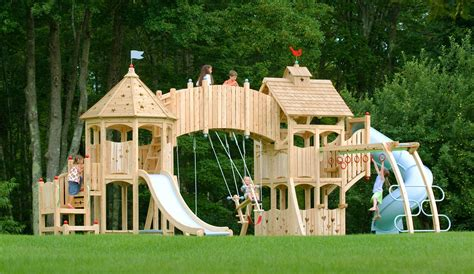 castle swing set plans serendipity 331 wooden swing set and outdoor playset