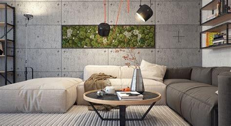wohneinrichtung ideen wohnzimmer wohneinrichtung ideen mit wandverkleidung aus beton und