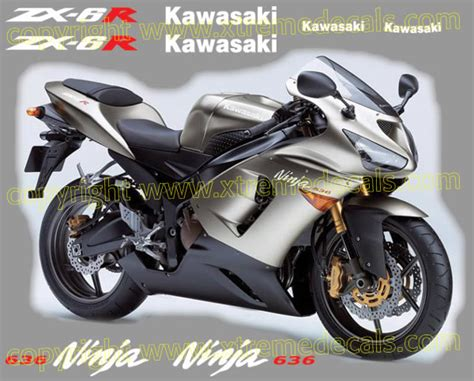 Knalpot Racing Kawasaki R6 Akrapovic High Quality 3 kawasaki zx 6r 636 2005 decal set all colours