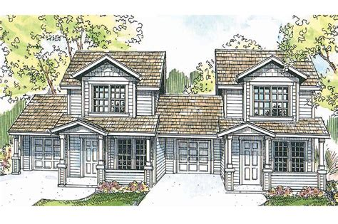 Two Story Garage Plans cozy duplex plan offers plenty of privacy associated designs