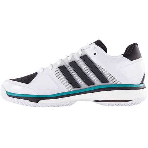 adidas energy boost s tennis shoe white black