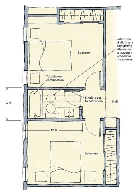 house plans with jack and jill bathroom jack and jill bathrooms fine homebuilding