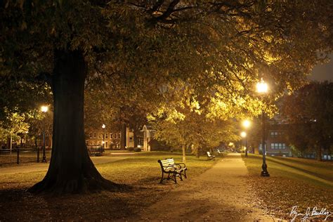 Walking In Federal Hill Park At Night Baltimore