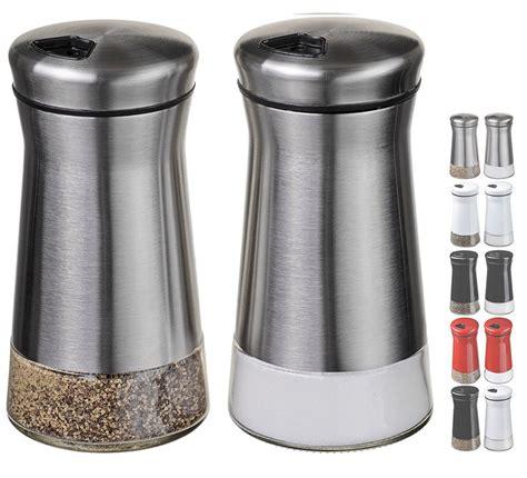 salt pepper shakers shop all salt pepper shakers chefvantage salt and pepper shakers set with adjustable