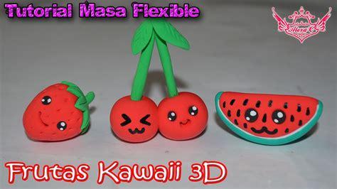 imagenes de llaveros kawaii tutorial frutas kawaii en 3d de masa flexible youtube