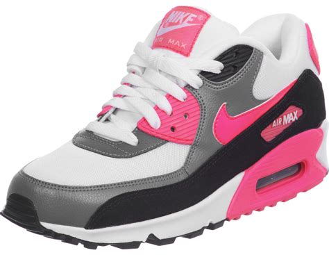 nike air max 90 w shoes white pink