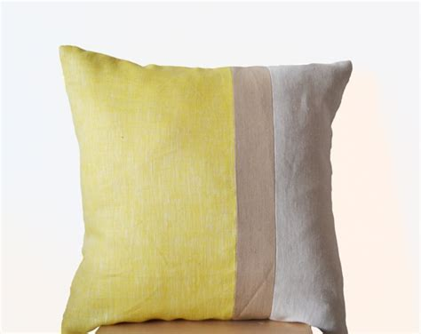 large decorative pillow covers yellow pillow cover large throw pillows color block