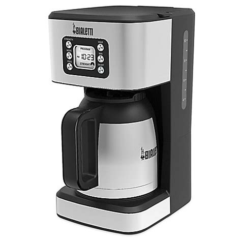 bed bath coffee maker buy bialetti thermal 35017 10 cup coffee maker in black