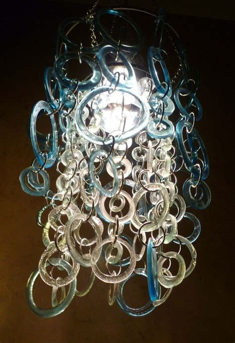Recycled Glass Chandeliers Aqua Chandelier Eco Friendly Ecological Recycled Glass