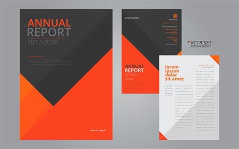 Annual Report Elegant Geometric Flat Design Template Download Free Vector Art Stock Graphics Annual Report Design Templates