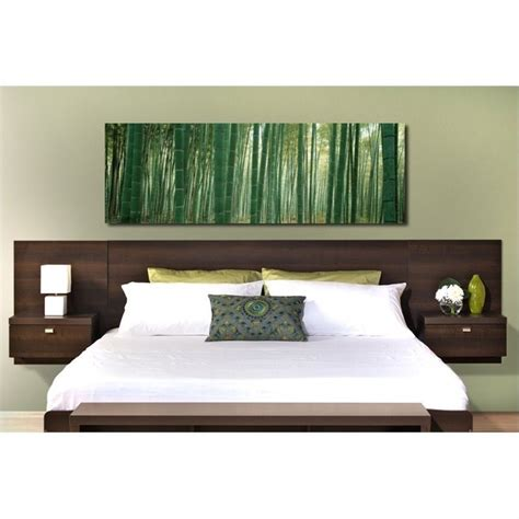 headboard with nightstands floating headboard with nightstands in espresso ehhx 0520 2k