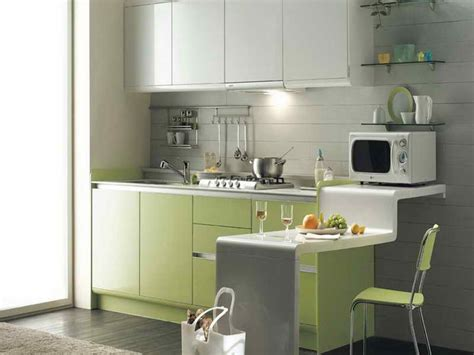 kitchen space saving kitchen ideas with green cabinet
