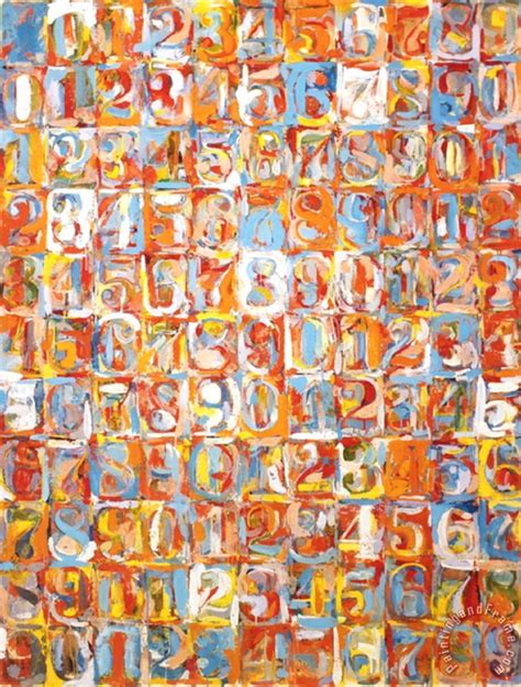 number painting numbers in color painting by jasper johns