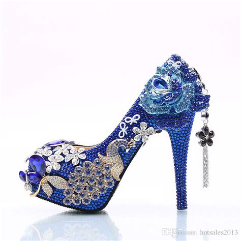 blue high heels for wedding 2017 gorgeous rhinestone wedding shoes blue